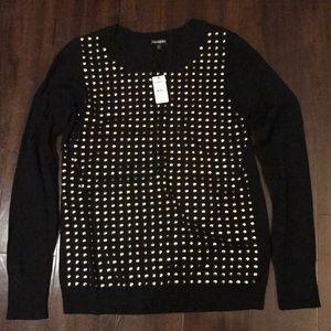 Express gold dot sweater